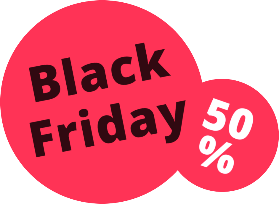 Black Friday 50%